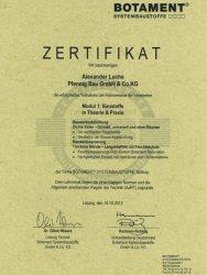 Zertifikat für BOTAMENT Verarbeiter