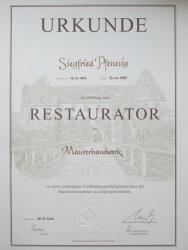 Restaurator Siegfried Pfennig